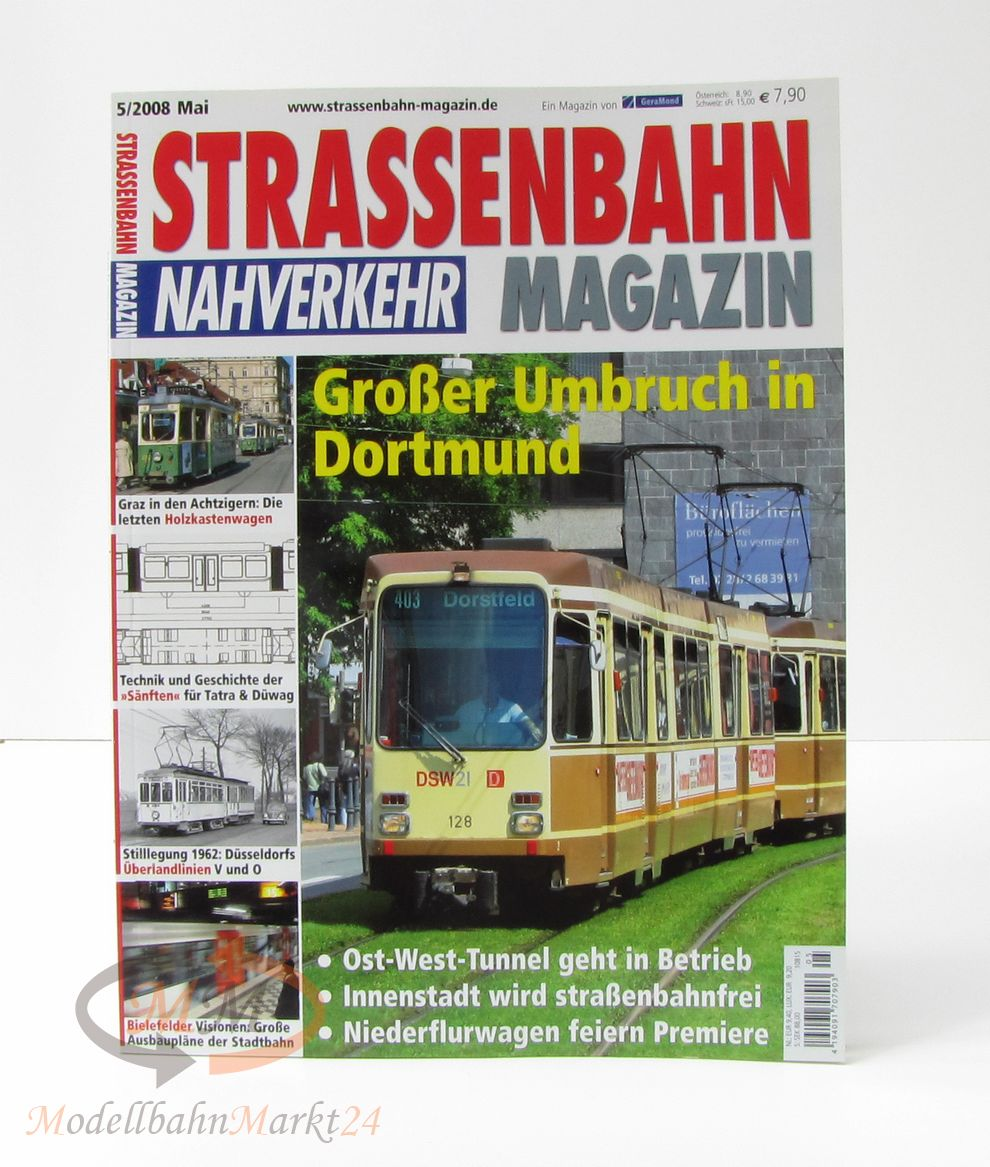 strassenbahn magazin nahverkehr 5 2008 mai gro er umbruch in dortmund geramond ebay. Black Bedroom Furniture Sets. Home Design Ideas
