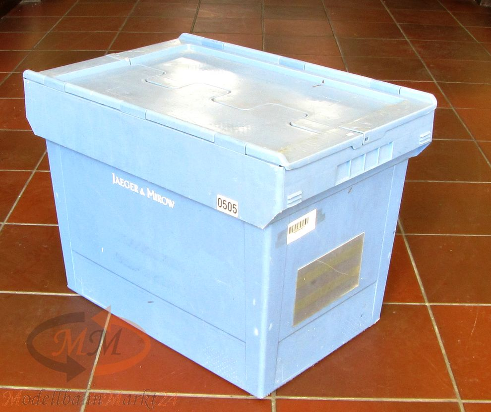 bito mbd 64 transport stapelbeh lter kasten box hellblau. Black Bedroom Furniture Sets. Home Design Ideas