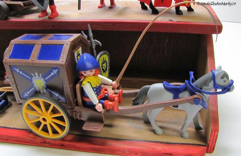 Playmobil 8 ritter pferde kutsche kanone fertigmodell ebay - Playmobil kutsche ...