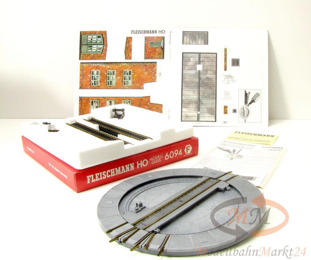 Fleischmann 6094 drehscheiben set f r modellgleis spur h0 for Kettenschloss mit drehscheibensystem