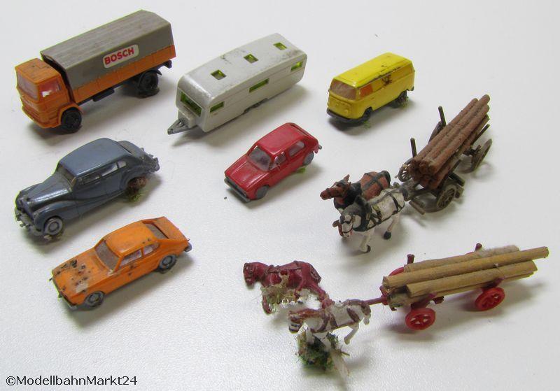 modellbahn zubeh r autos figuren z une spur n ebay. Black Bedroom Furniture Sets. Home Design Ideas